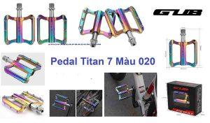 bàn đạp xe đạp titan 7 màu 020